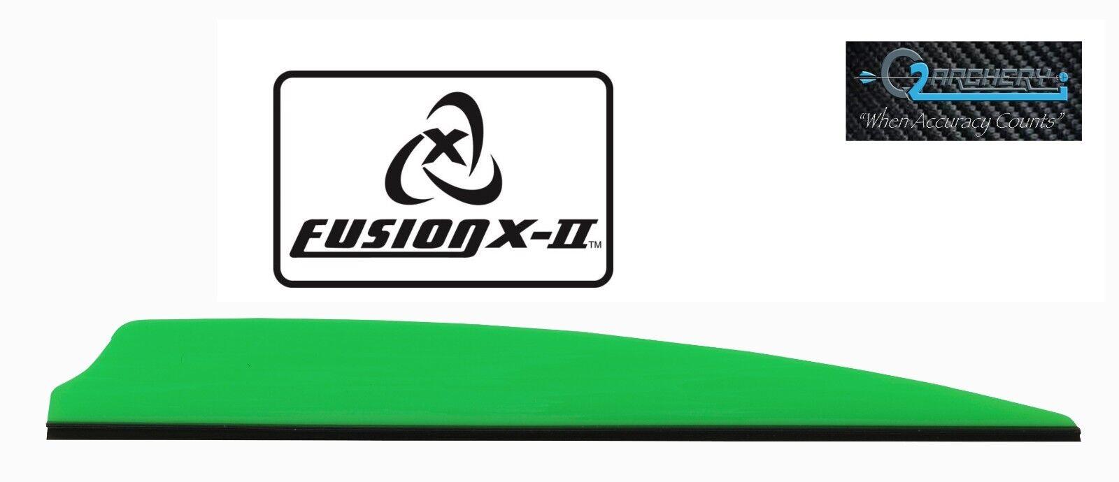 "Neon Orange Fusion X-II Vanes 4.0/"" Pkg50 ***When Accuracy Counts***"