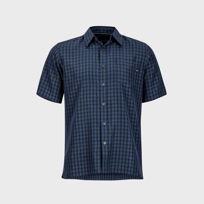 Marmot Eldridge Shirt Short Sleeve, Function Shirt for Men, Vintage Navy