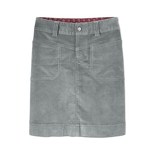 ATHLETA Washed Velvet Skirt, NWOT, Größe 8 Tall, Mercury grau