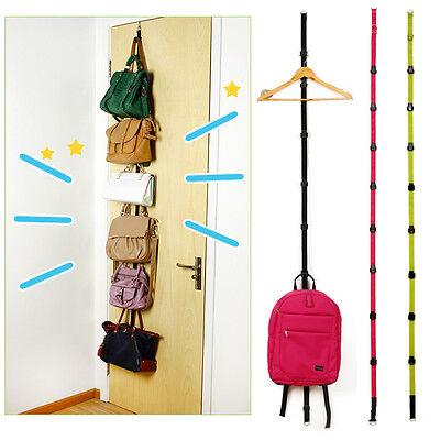 Brand New Over Door Storage Clothes Bag Hat 8Hooks Straps Hanger Rack Holder