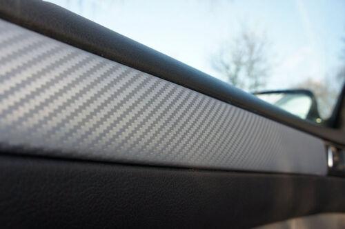 Mercedes Benz M-Klasse W164 3D CARBON ZIERLEISTEN SET 3D CARBON SILBER