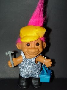 "Red Hair HANDYMAN // CARPENTER 5/"" Russ Troll Doll NEW IN BAG"