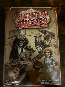 Ultra Pro Entertainment Fightin Words A Wild West Card Game Mike Elliot ☆