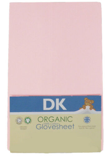74x33cm DK Glovesheets GOTS Certified 100/% Organic Cotton Fitted Pram Sheets