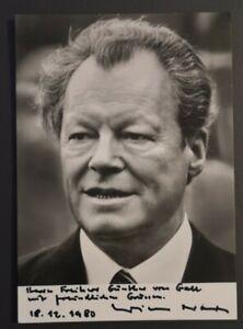 Willy Brandt original signierte Autogrammkarte, verstorben, SPD, Bundeskanzler