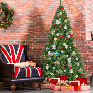 Pvc Christmas Trees.Details About 7 5ft Pvc Artificial Christmas Tree 1346 Tips Premium Hinged W Metal Leg