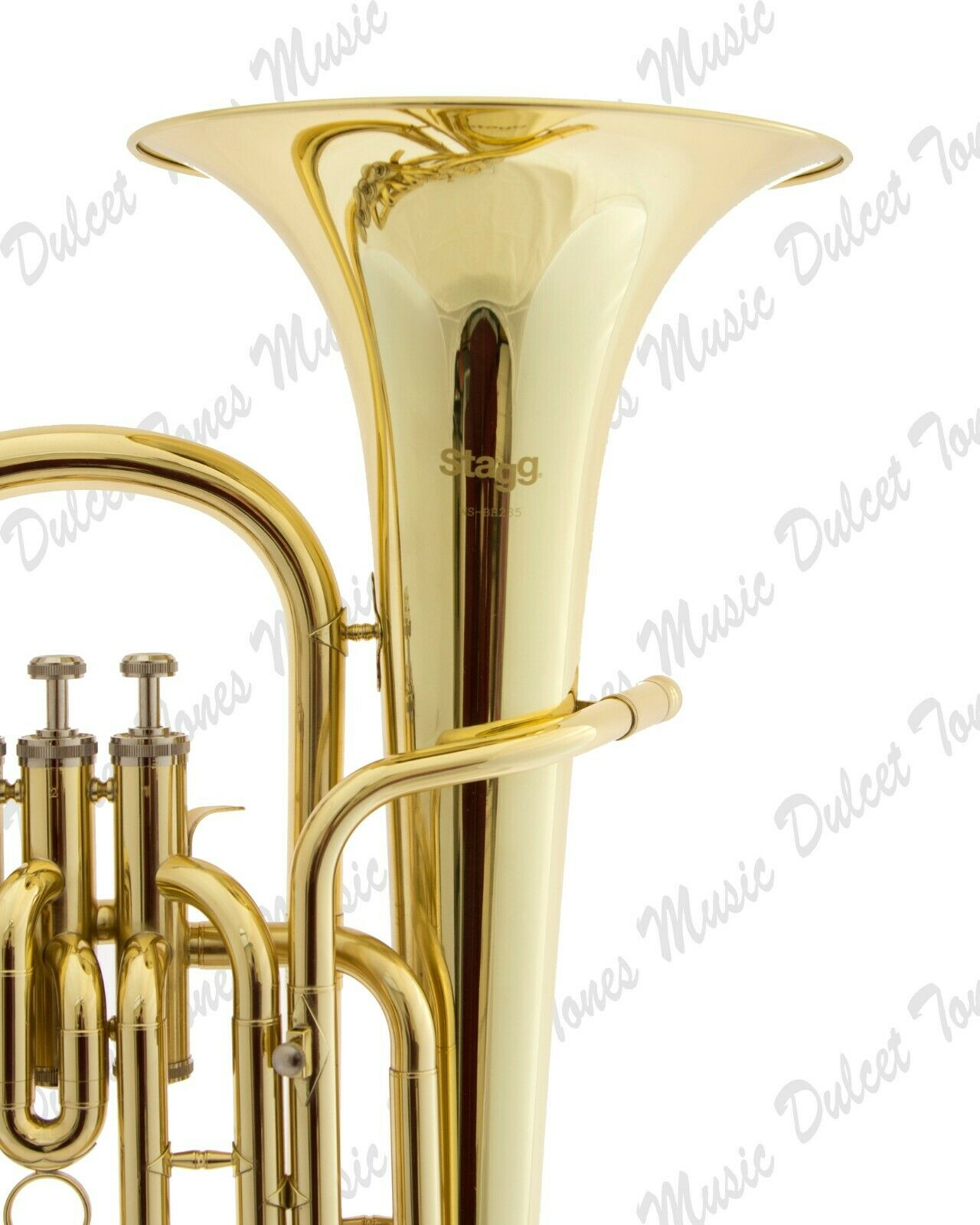 Stagg Bb Three Valve Baritone Horn Brass Body Clear Lacquer Finish Fast Postage Musical Instruments & Gear