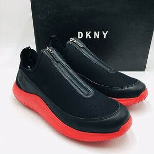 DKNY Men's Seb Leather Zipper Slip-On
