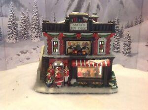 St Nicholas Christmas Village.Details About St Nicholas Square Christmas Village Santa S Toy Chest