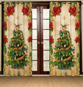 image is loading christmas balls tree window curtain treatments living room