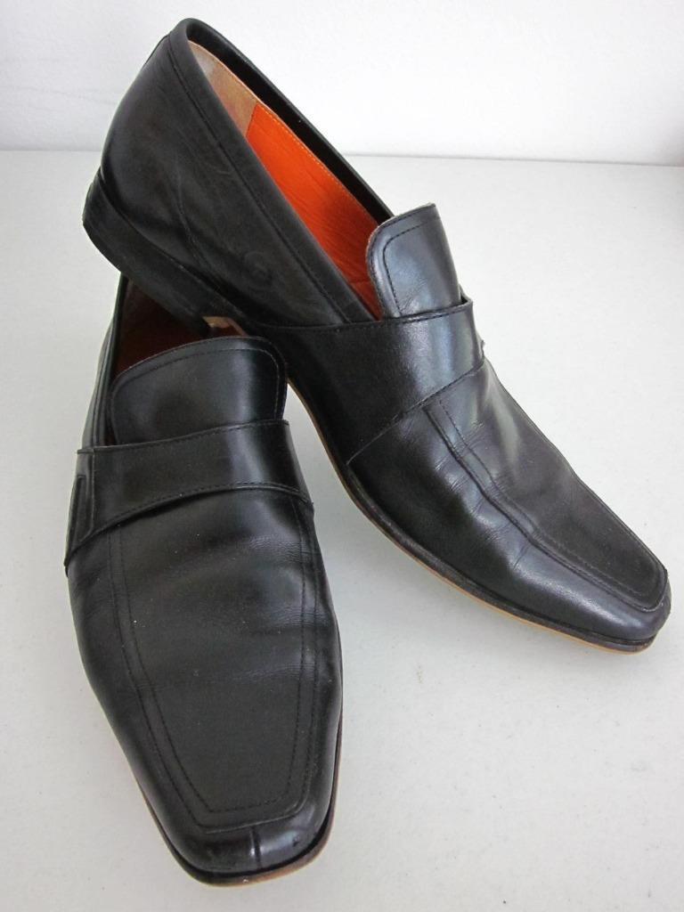 ETRO Black Slip On Dress shoes NEW HEELS Sz 45EU 12US 11UK Rt  925