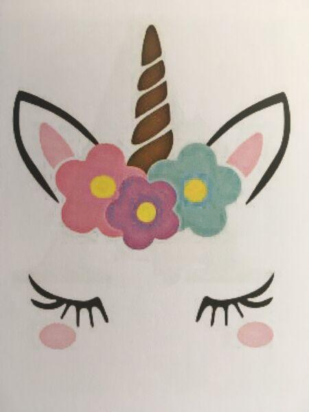 ♥ 1 perchas imagen unicornio rosa lámina de transferencia sustancias oscuras ♥ perchas imágenes farbenmix