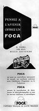 ▬► PUBLICITE ADVERTISING AD FOCA Appareil photo 1950