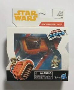 2017 Star Wars Micro Force Jakku Rey/'s Speeder véhicule Hasbro Disney