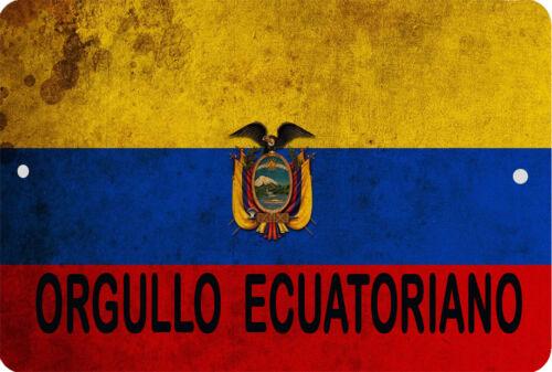 Ecuador Bandera Letrero 8 x 12 Patriótico Emblema Orgullo Ecuatoriano Versión