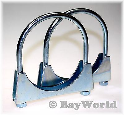3 St Auspuffschelle Rohr-Bügel Schelle U-Bolt Clamp M8 x 60mm Flachbügelschelle