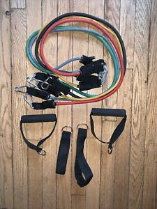 Black Mountain Products 5 Resistance Band Set Ankle Strap Ebay