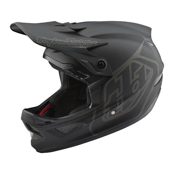 Troy Lee Designs D3 Fiberlite casco Mono Negro Bmx Bicicleta De Montaña Bicicleta 19800220