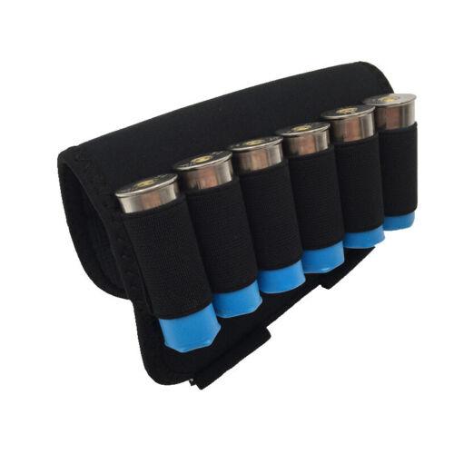 Hunting Gun 6 Shots12 20 Gauge Shell Holder Buttstock Bag Rest Shotgun Holder