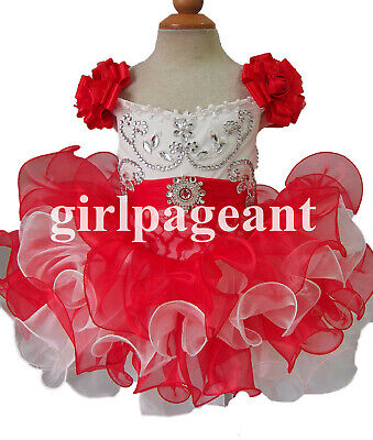 Infant//toddler//baby//Girl Royal//Red Lace Pageant Dress G125C