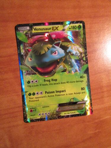 LP Pokemon VENUSAUR EX Card GENERATIONS Set 1//83 XY Ultra Rare 20th Anniversary