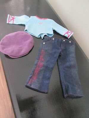 American Girl Doll Girl of Today Retired 2003 Glitter Jeans Outfit Slides Shoes