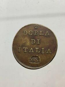 Poids-Piece-de-Monnaie-avec-Lupa-Etats-Papaux-Roma-Dobla-de-Italie-RAR