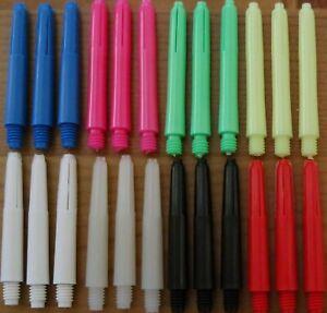 35mm, 2ba Deflectagrip Kurz Dart Schäfte 8 Farbauswahl Schafte
