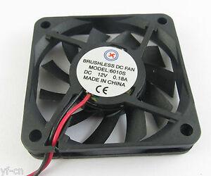 1pc-60x60x10mm-6010-60-mm-12-V-connecteur-2pin-Brushless-DC-ventilateur-de-refroidissement