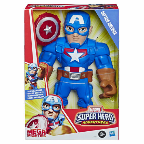 Playskool Héros Marvel Super Hero Adventures Mega mighties Captain America
