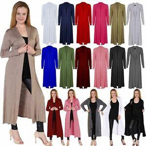 Ladies-Long-Sleeve-Open-Boyfriend-Maxi-Cardigan-Women-Formal-Casual-Floaty-Dress