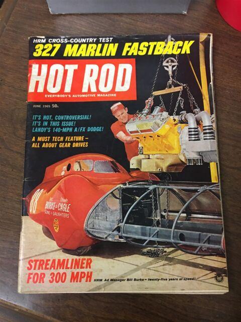 June, 1965 Hot Rod Magazine 327 Marlin Fastback