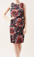 Dress Black Hobbs 12 Bnwt Hyacinth Red Size Pink Maria Print Purple qpRCFgp