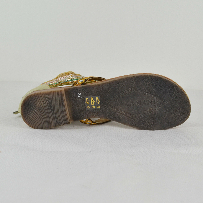 LAZAMANI Damen Sommer Sandale 33657 in Grün 36-41 Gr. 36-41 Grün NEU e92001