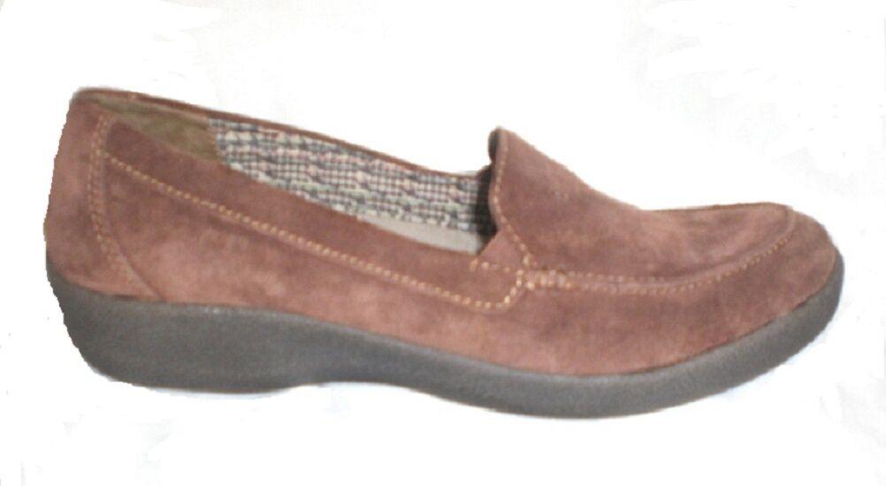 Easy Spirit pelle Warwick loafer brown suede pelle Spirit 9.5 Med 076df1