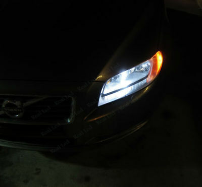 Volvo S80 MK2 H11 501 55w Super White Xenon Low//Canbus LED Side Light Bulbs Set