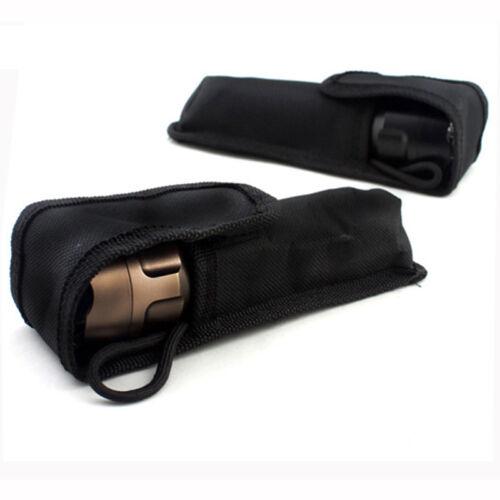 Outdoor LED Flashlight Torch Pouch Holster Case Belt Hasp Nylon Portable LampBag