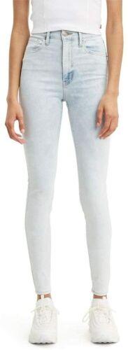 Women Levi/'s Miles High Super Skinny High Waist Jeans Light Blue W24-32Price £30