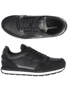 819f757894d Chargement de l image en cours Scarpe-Sneaker-Emporio-Armani-Shoes -Uomo-Nero-X4X215XL198-
