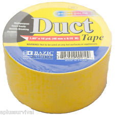 """Camping Survival Duct Tape Roll 2/"""" x 10 Yards Black Hunting Emergency Shelter"""