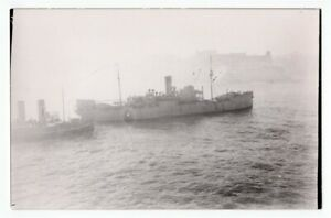1946-British-Submarine-Depot-Ship-HMS-Lucia-at-Malta-Original-Photo
