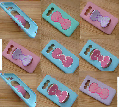 3D Butterfly Bow Case Cover Stand Holder F Samsung Galaxy Grand Prime G530 G5308