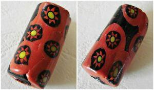 Antica Perla Millefiori, Rossa - Rif. 3 - Vvbvbizm-08010311-444846566