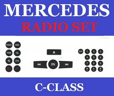 2008-2013 C- CLASS RADIO BUTTON DECALS REPAIR KIT WITH ROUND KEYPAD