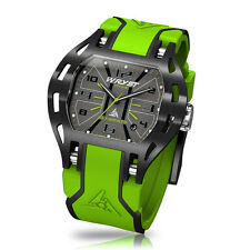 Green Sports Watch Limited Edition Wryst Elements PH3 Swiss Made With Black DLC