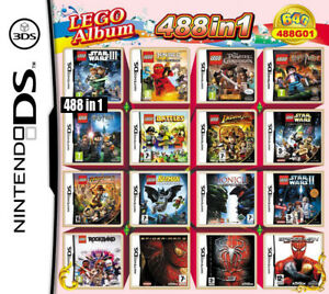 NDS 488 in 1 Game Cartridge Lego Multicart for Nintendo DS NDSL NDSi