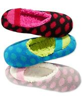 Hue Women's Dotted Ribbed Shue Slipper W/shearling Insole