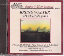 Brahms: Piano Concerto N.2, Schicksalslied / Bruno Walter, Myra Hess- CD