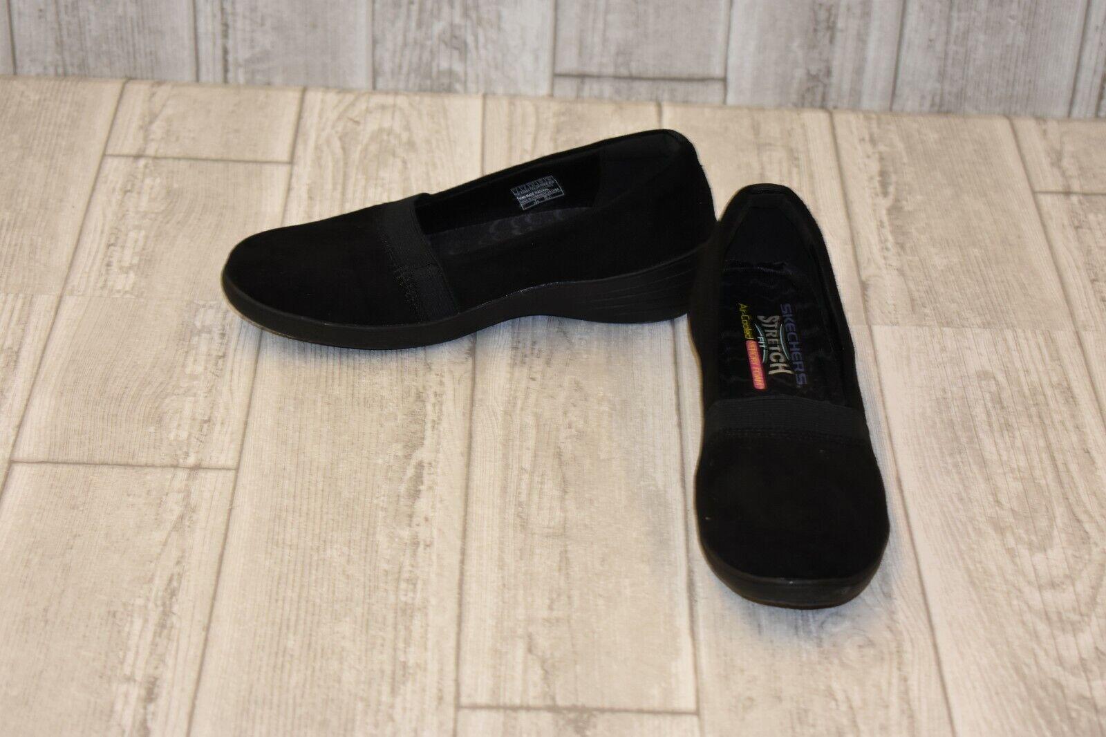 Skechers Kiss Royal Plush Flat - Women's Size 7, Black