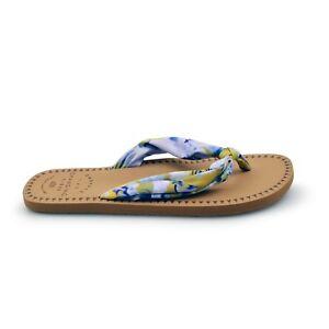 the best attitude 9f5e1 4b65b Details about Animal® Cilla Fabric Strap Women's Snorkel Blue Flip Flops  Sandals 50% Off Sale